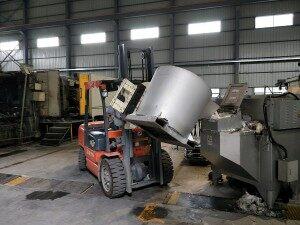 aluminio horno de retención de agua