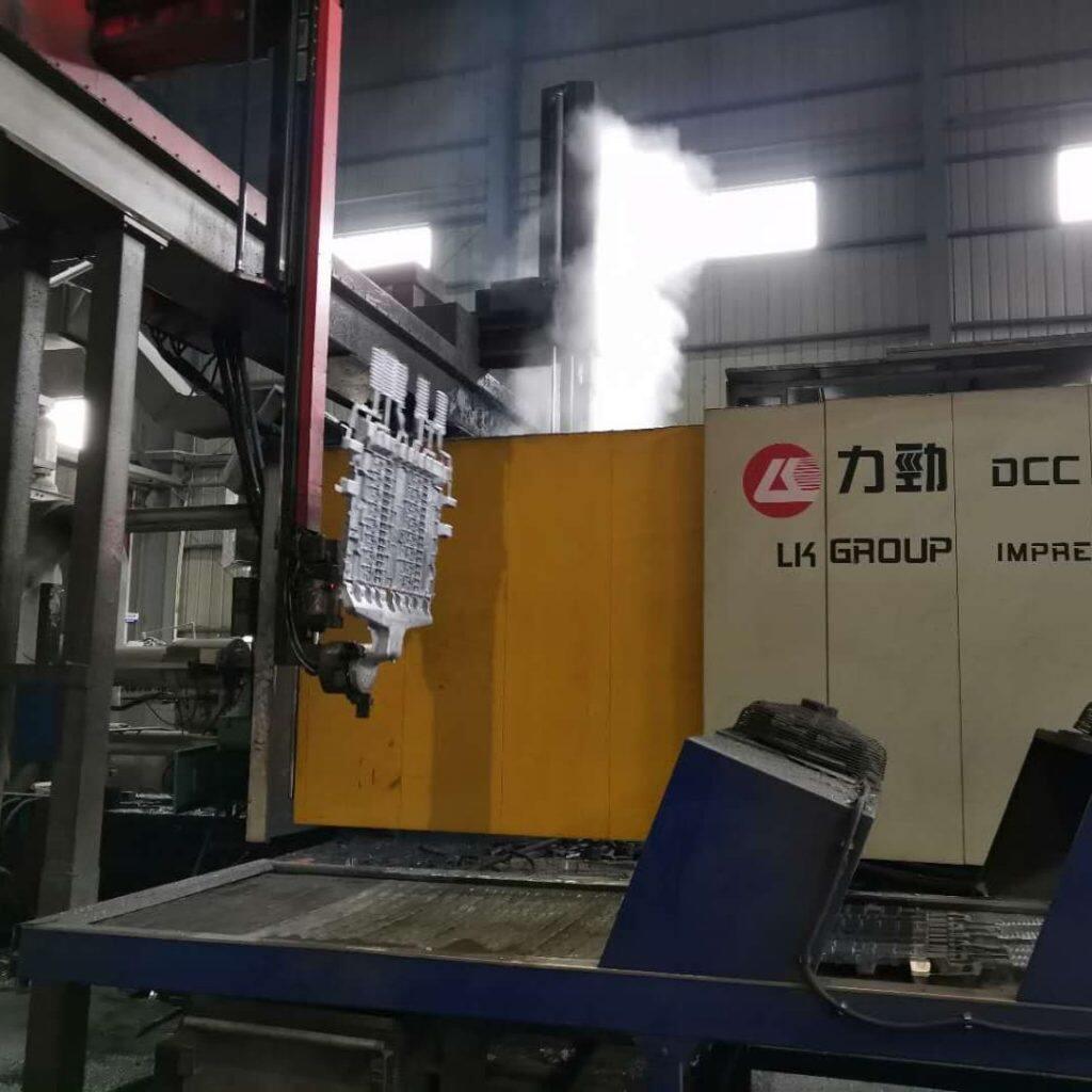 pulverizar- recoger piezas de fundición a presión